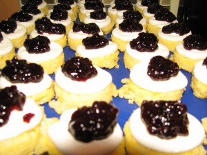 polenta-cakes-goat-cheese-black-raspberry
