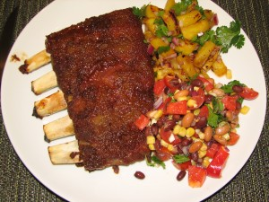 cumin-ribs-pineapple-salsa