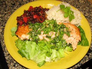 southwest-salmon-black-beans