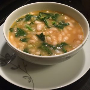 Spicy White Beans & Greens