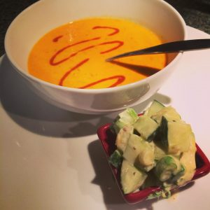 Heirloom Tomato Blue Cheese Soup