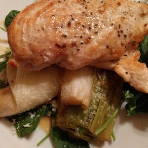 Chicken and leeks